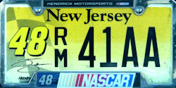 New Jersey Sports License Plate NASCAR #48 Jimmie Johnson