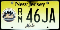 New Jersey Sports License Plate METS