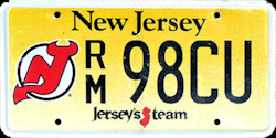 New Jersey Sports License Plate DEVILS