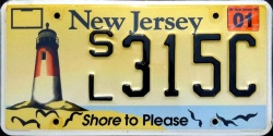 New Jersey Shore To Please License Plate