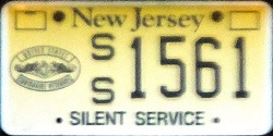 New Jersey Silent Service Submarine Veteran License Plate