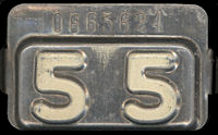 New Jersey License Plate Validation Registration Tab 1955