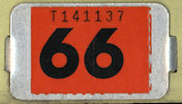 New Jersey License Plate Validation Registration Sticker Tab