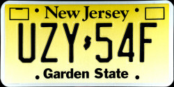 New Jersey License Plate 2006