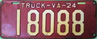 Virginia License Plate New Jersey Dies Made in NJ