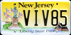 New Jersey Liberty State Park License Plate