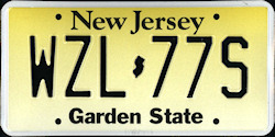 New Jersey License Plate 2008