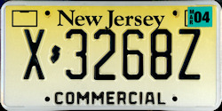 New Jersey Commercial Truck License Plate 2004