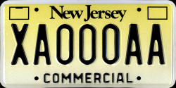 New Jersey Commercial Truck License Plate 1993