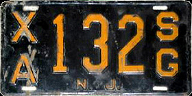 New Jersey State Government Commercial License Plate
