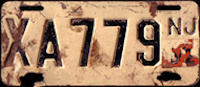New Jersey Commercial Motorcycle License Plate