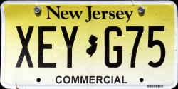 New Jersey Commercial Truck License Plate 2017