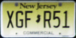 New Jersey Commercial Truck License Plate 2018