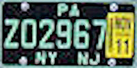 Port Authority of New York and New Jersey License Plate
