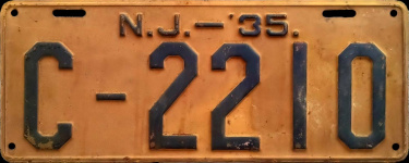 New Jersey License Plate Clam Oyster Permit