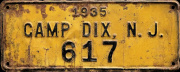 New Jersey License Plate Military Fort Dix Camp Dix