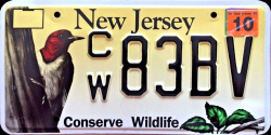 New Jersey Conserve Wildlife License Plate