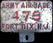 New Jersey License Plate Military Fort Dix