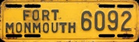 New Jersey License Plate Military Fort Monmouth