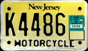 New Jersey Motorcycle License Plate
