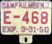 New Jersey License Plate Military Camp Kilmer