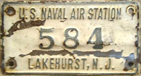 New Jersey License Plate Military Lakehurst Naval Station