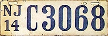 New Jersey Motorcycle License Plate 1914
