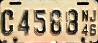 New Jersey Motorcycle License Plate 1946