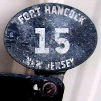 New Jersey License Plate Military Fort Hancock