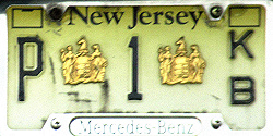 New Jersey Passaic County Clerk License Plate