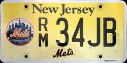 New Jersey Sports License Plate YANKEES