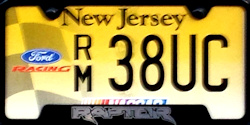 New Jersey Sports License Plate NASCAR Ford Racing