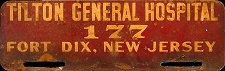 New Jersey License Plate Military Fort Dix Tilton General Hospital