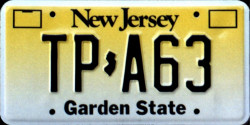 New Jersey Turnpike Authority License Plate