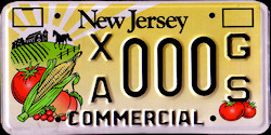 New Jersey Agriculture Commercial Truck License Plate