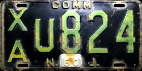 New Jersey Trailer License Plate