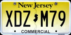 New Jersey Commercial Truck License Plate 2016