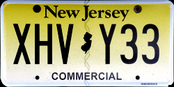 New Jersey Commercial Truck License Plate 2019