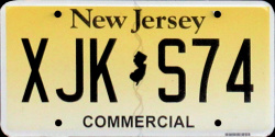 New Jersey Commercial Truck License Plate 2020