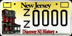 New Jersey Discover History NJ License Plate